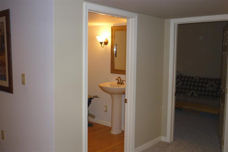 hidden door leads to storage area